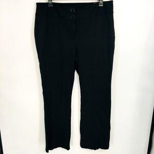 Alfani Solid Black Snap Waist Trouser Pants